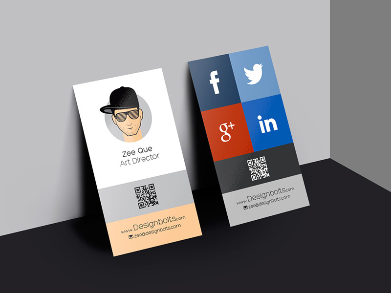 b303b6c875af4245aac04dc3553506b3 - Free Vertical Business Card Design & Mockup Psd