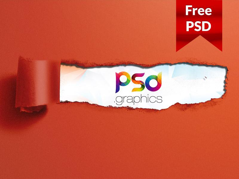 b790439c3022ec10d5b67c90578139fd - Ripped Torn Paper Mockup Free Psd Dribbble