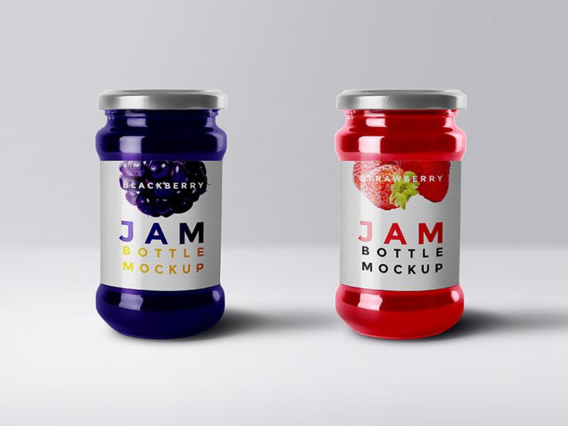 b988f8dc8d3d071042073958be404c2e - Free Jam Bottle Mockup PSD