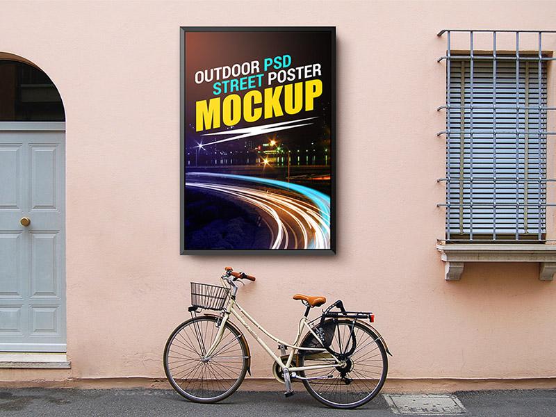 bc7dbcb123d65d734b1194fa16ac261a - Outdoor Street Poster Mockup Template