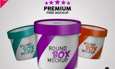 bc87aa8254ff519cc23e242a22259289 400x240 - Premium Paper Round Box Mockup