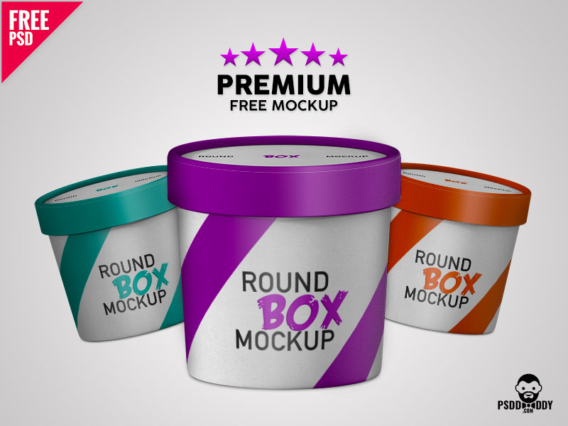 bc87aa8254ff519cc23e242a22259289 - Premium Paper Round Box Mockup