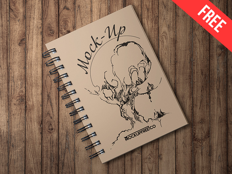 bca21d633e50c1bdf2b86f169d5cb617 - Spiral Book – Free PSD Mockup