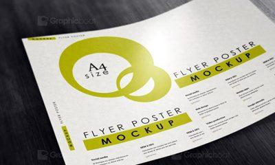 bd7913ae2d110e7f86cab9d30518d759 400x240 - Free A4 Flyer Poster Mockup