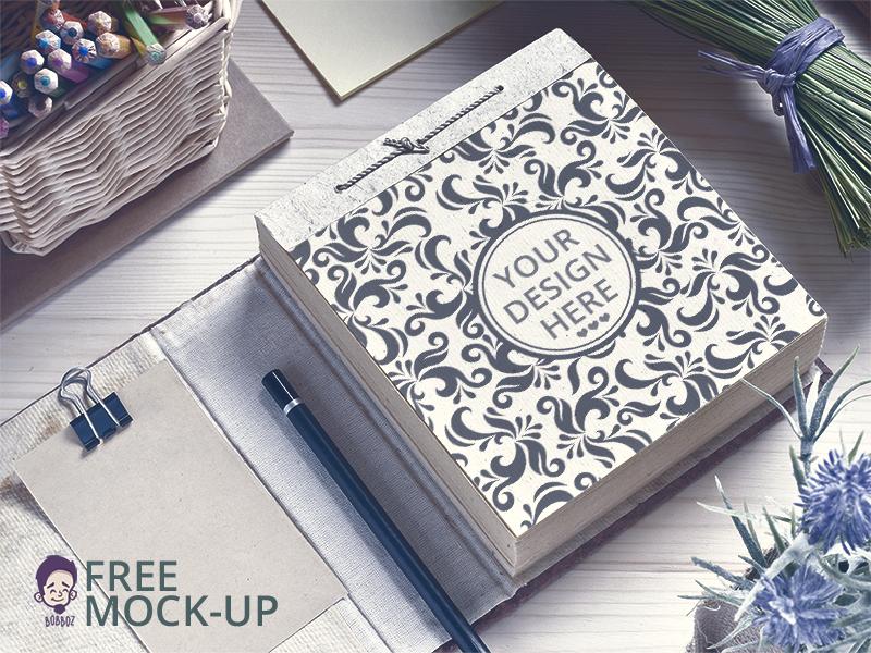 bea168969da148a6b91073d4634b86a7 - Free Paper Notepad Mockup