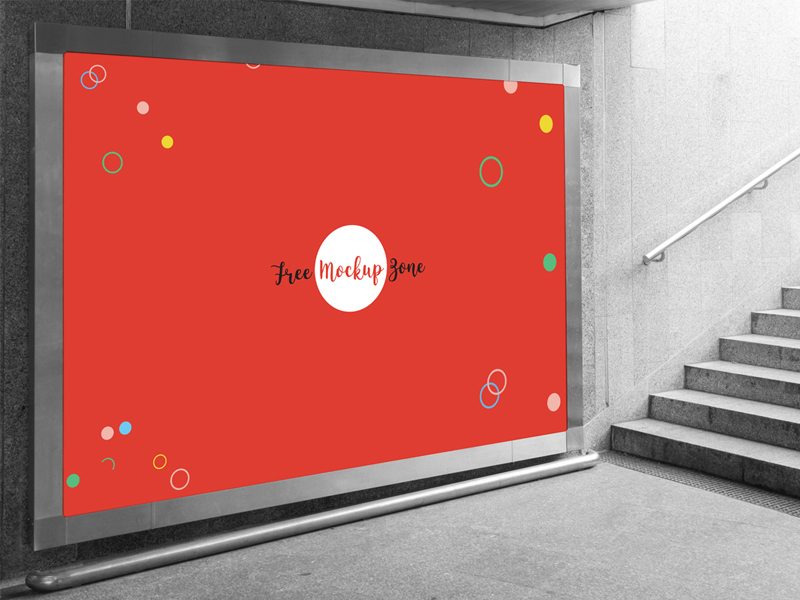 bf23810ce43c69b05259d4461d19e230 - Free Underground Horizontal Billboard Mockup For Advertisement