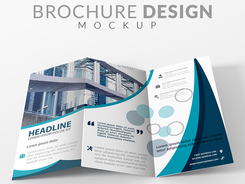 bfb3fe1837683c6ab428d1d6056b4147 - Brochure mock up design Free Psd