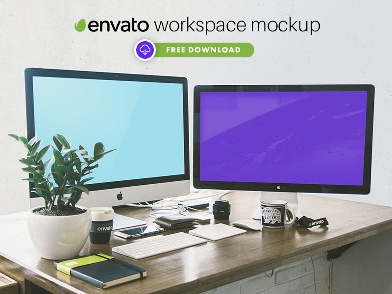 c28f09f9142136cf57156d1b7401d7a7 - FREE Envato Workspace Mockup