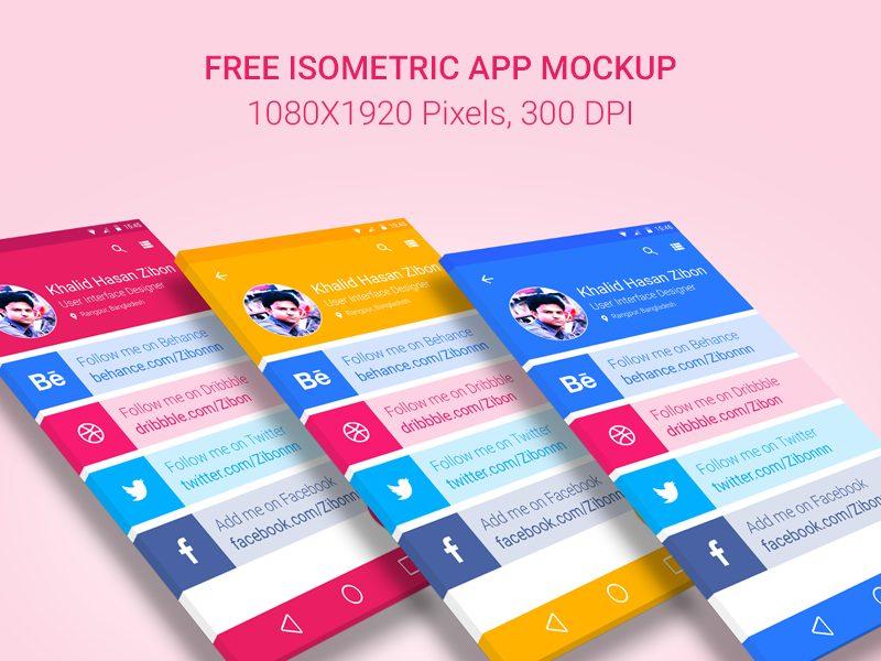 c2c62c25a0c9ba00bd918304f96b4574 - Free Isometric App Mockup