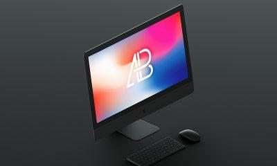 c342d0f9a8dd17414396e3bd050b6107 400x240 - Isometric Matte Black iMac Pro Mockup
