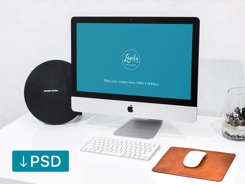 c48dc30b288ba2e046a08a14c053a2db - Imac On Office Desk With Cool Speakers (FREEBIE)