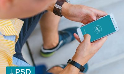c6c73a37d36ba01278e1f36832f3f330 400x240 - FREE mockup template: Man Holding Xiaomi Mi5 in his hands