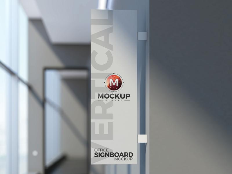 ccf511276a49aff8fdd1937bff5f531f - Free Office Vertical Signboard PSD Mockup