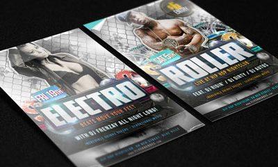 cdcbfd6715fec7cc50c87d9a8bc7806b 400x240 - Flyer / Poster Mockup Vol. 2 (Free PSD)