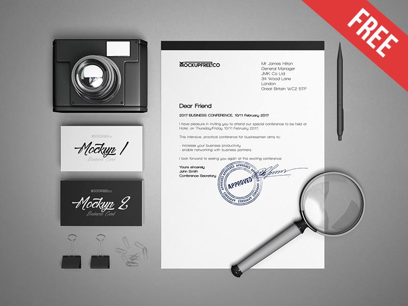d0e51b53e8a69ca5010538441c3465a4 - Business Stationery v2 – 3 Free PSD Mockups