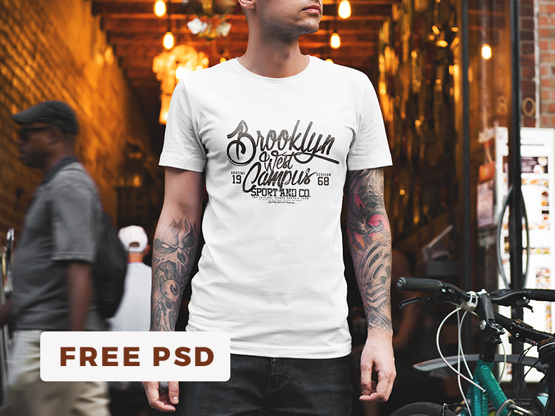 d2a776f1a70d42c827fdbe83e4fd4f61 1 - 👚 Free T-Shirt Mockup / Urban Edition