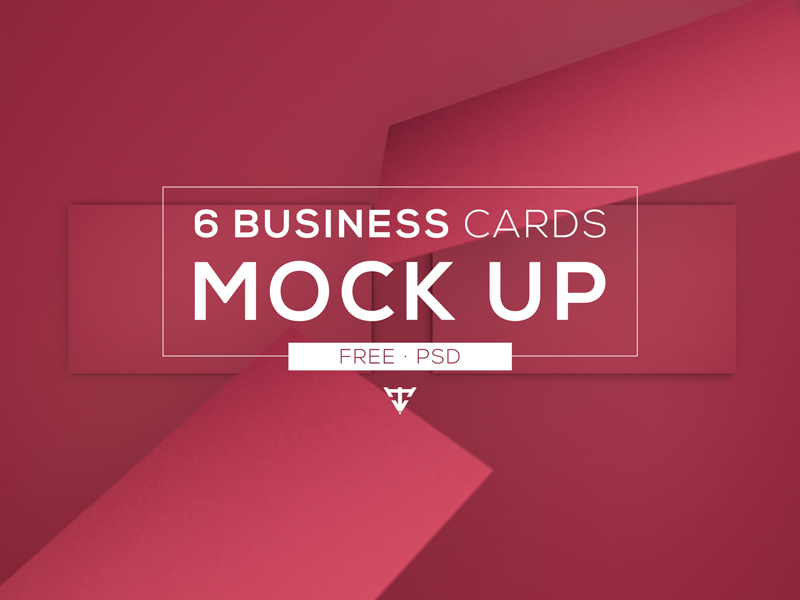 d2ecf56d9206a3099bd75ca78aaa7d32 - 6 Business cards - Mock Up Free