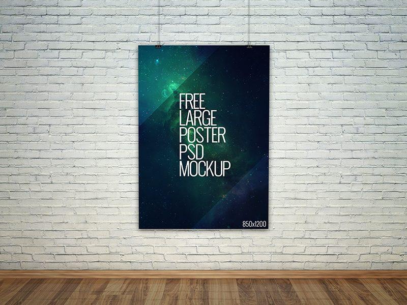 da89b79cb80dcfbb1b8dc52fb2eb6200 - Freebie - Large Poster PSD Mockup
