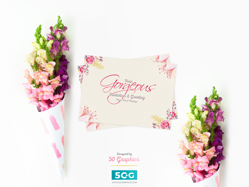 db2bf0c7978dd92ca7b195e9d1288a95 - Free Gorgeous Invitation & Greeting Paper Card PSD Mockup