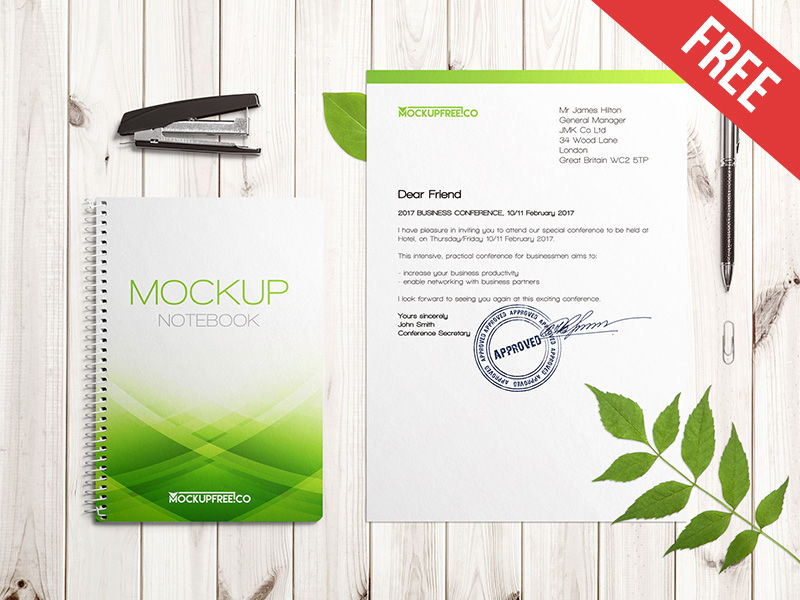 db7b8f9dcf6bc6d70aa41edb1c960041 - Floral Stationery Branding – 2 Free PSD Mockups