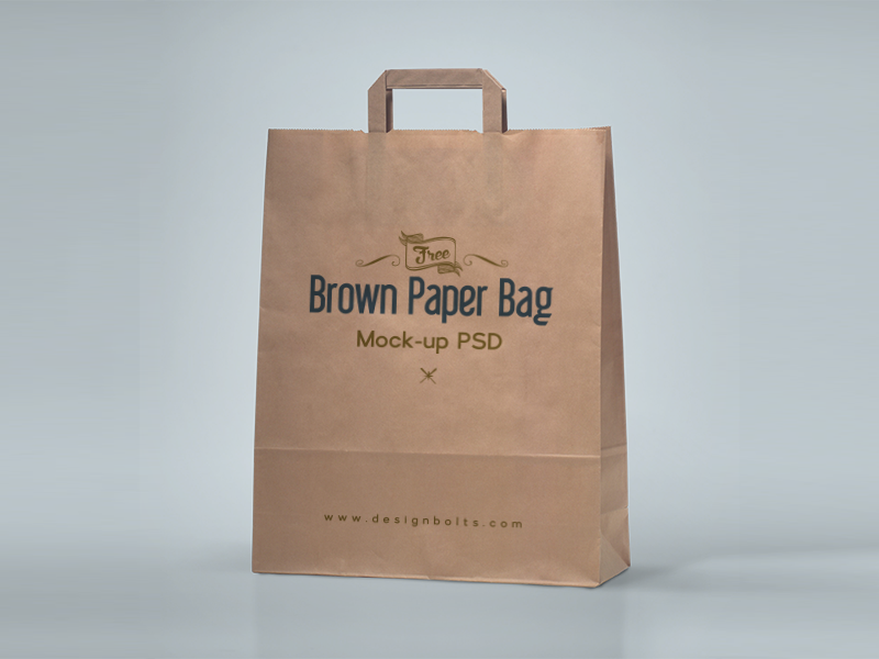 dcd6f9ea7c28810b7140c132b947cc70 - Free Brown Paper Shopping Bag Packaging Mock-Up Psd