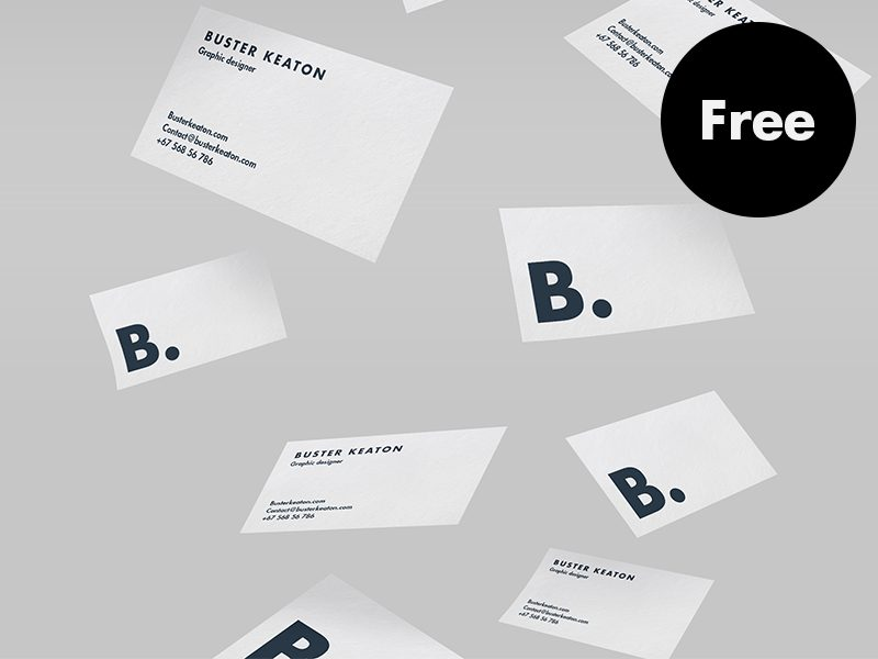 df49672ef3efaad1e62dbb3f13515b6b - Free Floating Business Card Mockup PSD
