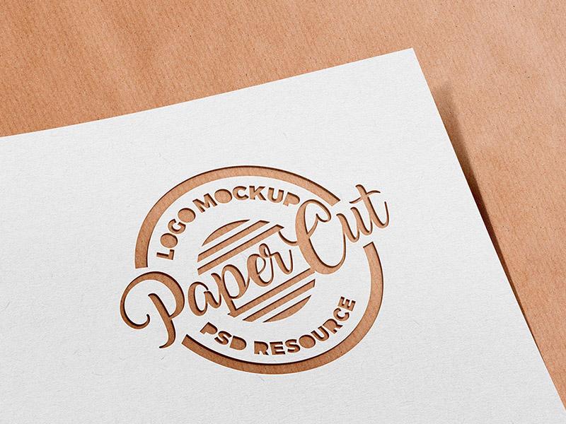 e214dc3b2b1d5188f2f5e510fa8cc4c2 - Paper Cutout Logo Mockup