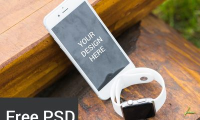 e2d7c584064b2bb7c5f7cc20e03148fd 400x240 - Freebie : Iphone 6s With Smart Watch Mockup