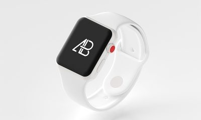 e3d7ff62ed1f80c5f6166b0c6de30cf1 400x240 - Ceramic Apple Watch Series 3 Mockup