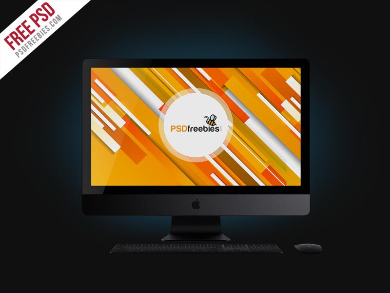 e69efd7acb3d68ab615a18c184d93370 - Free PSD : Apple iMac Pro Mockup Free PSD