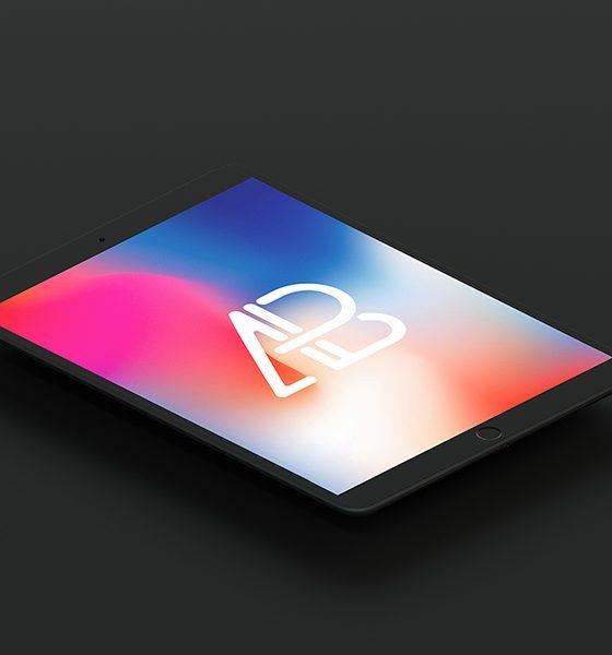 e7ffe913fa40f82fc42b6df16e76355c 560x600 - Isometric Matte Black iPad Pro 10.5 Mockup