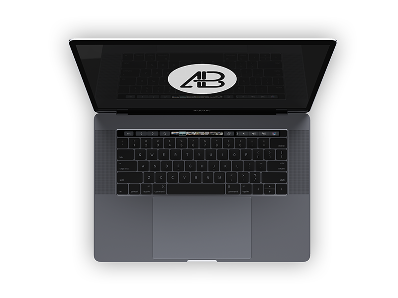 e8e61fe19841cc7d38a06a8a13b62c49 - Realistic 2016 Space Gray MacBook Pro Mockup Vol.4