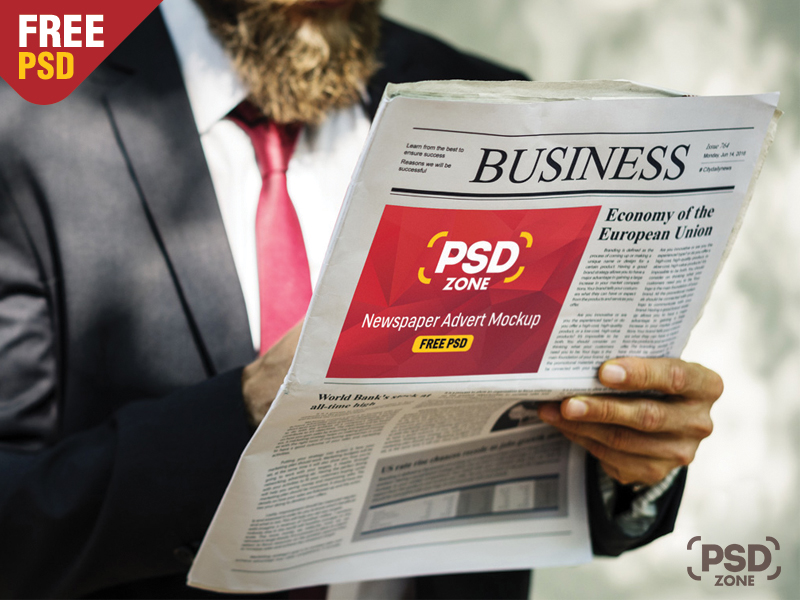 eaccb3525caa56499f71a82f90492d89 - Newspaper Advertisement Mockup Free PSD