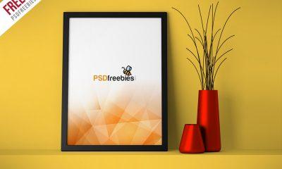 ead434f10a307c5c1fc8a7203e74a341 400x240 - Freebie : Flyer Poster Frame Mockup Free PSD
