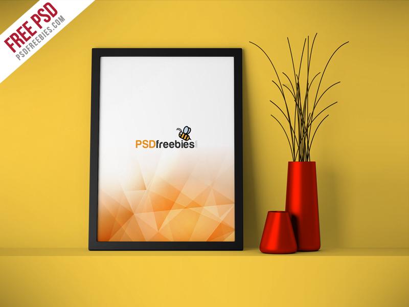 ead434f10a307c5c1fc8a7203e74a341 - Freebie : Flyer Poster Frame Mockup Free PSD