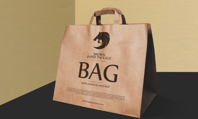 eb26387fb507a7a7315ffe007805c8ba 400x240 - Free Brown Paper Package Bag With Handles Mockup