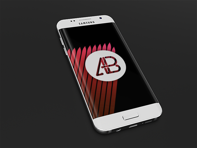 ebd24a108e8a0116ad4127f88c368275 - Realistic Samsung Galaxy S7 Mockup