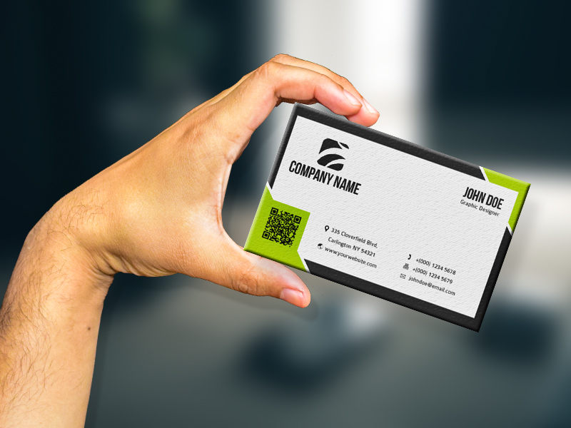 ec0a5ca30ae1f5bbab4f1907630ce656 - Free Hand Holding Business Card Mockup PSD