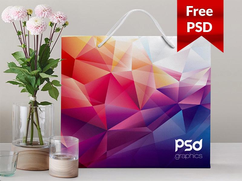 f01841958ef3f191b830ef189e2e37eb - Shopping Paper Bag Mockup Free PSD Graphics