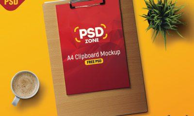 f211d01b1e183d8a9114847a7e74d3b9 400x240 - A4 Paper Clipboard Mockup Free Psd