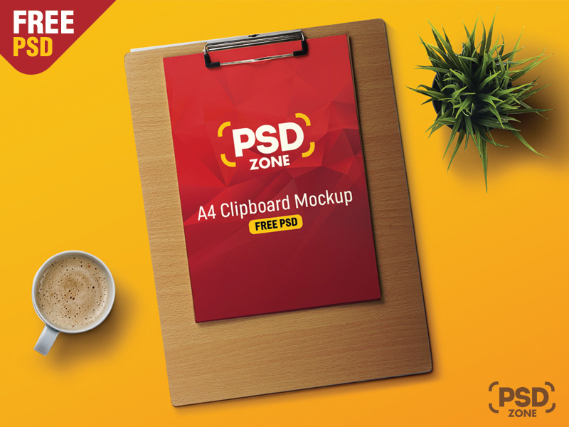 f211d01b1e183d8a9114847a7e74d3b9 - A4 Paper Clipboard Mockup Free Psd