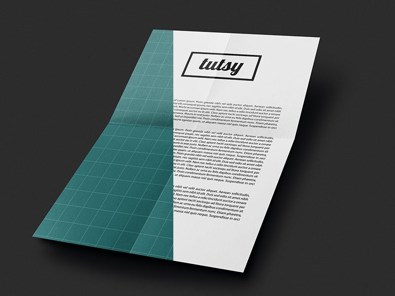 f6f6cbde1cb30b106406c522820b1d74 - Free A4 folded paper mockup