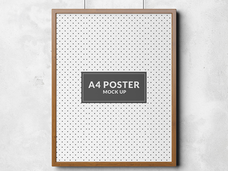 f788d9345c11c5aa6533644d312dbc8f - Poster mock up template Free Psd