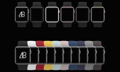 f7f2d785ebae845b89e16f467064975e 400x240 - Customizable Apple Watch Series 2 Mockup
