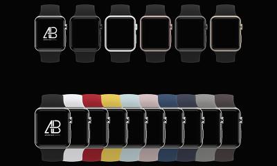 f7f2d785ebae845b89e16f467064975e 400x240 - Customizable Apple Watch Series 2 Mockup