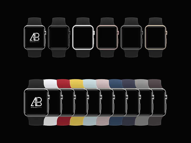 f7f2d785ebae845b89e16f467064975e - Customizable Apple Watch Series 2 Mockup