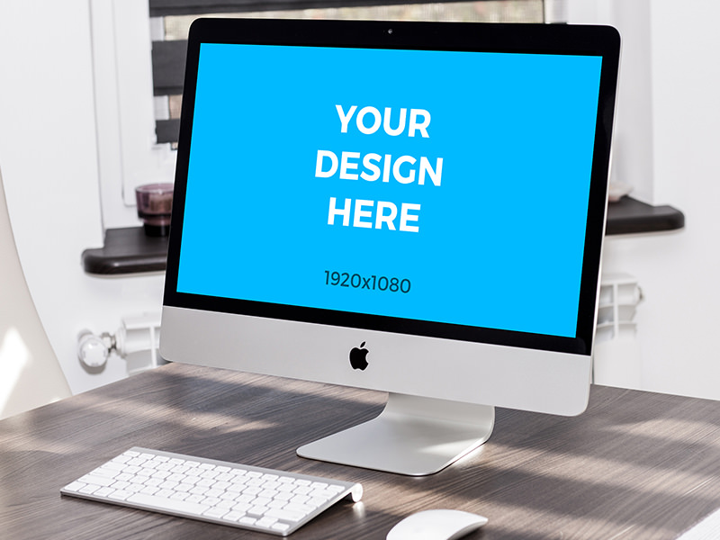 fa30db0d57d423e9070bd925bf739ed9 - iMac on wooden table free mockup