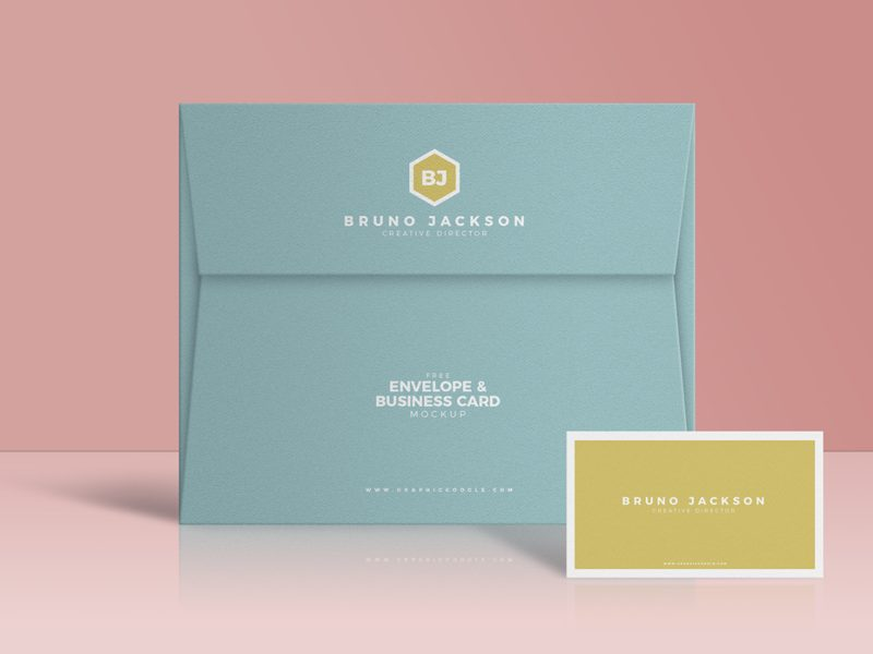 fc595081c6ba21391c24058fce26e379 - Free Envelope & Business Card Mockup PSD