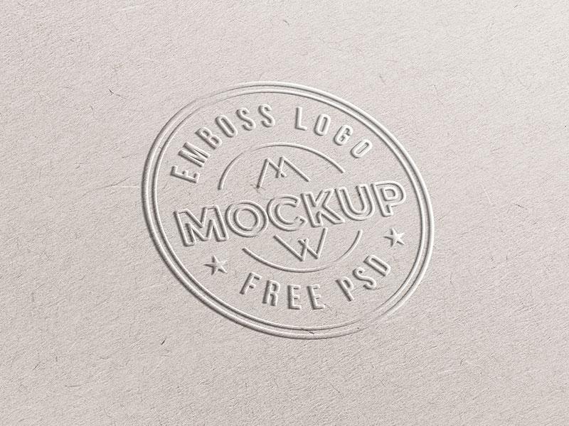 fe2393e567492a04dd7f3a7ff13abd16 - Emboss Paper Logo Mockup