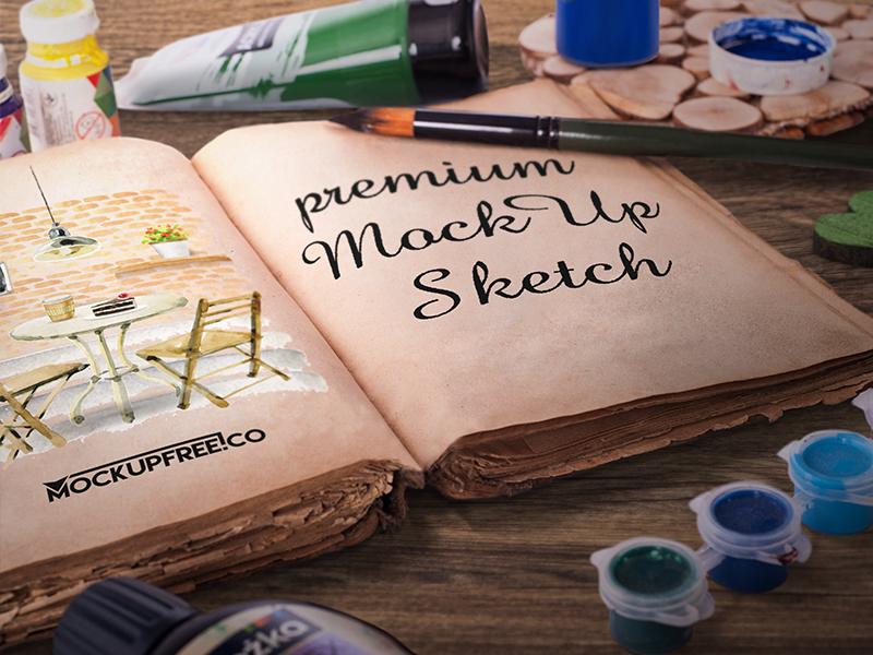 fe9a02f0d932f88666bc345f00943d7c - Artist Sketch Book – 6 Free PSD Mockups